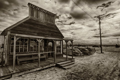 Terminated Trade (Ian Sane) Tags: ian sane images terminatedtrade mercantile old abandoned cars classic semighost town shaniko crosshollows oregon power lines sepia tones architecture landscape photography canon eos 5ds r camera ef1740mm f4l usm lens