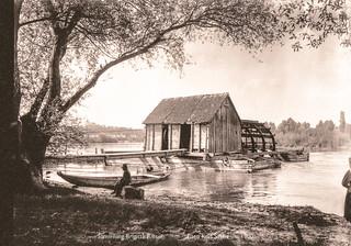 Schiffmühle (auch Schiffsmühle) bei Stillfried an der March, 3 von 3   um 1900