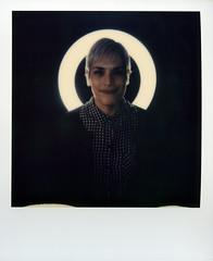 Polaroid Ringlight Portrait 1 (Sean Anderson Media) Tags: polaroid sx70 portrait ringlight fotodiox selfiestarlite woman femalemodel polaroidfilm instantfilm instantphotography polaroidsx70onestep sx70onestep instantcamera instantportrait fashionphotography