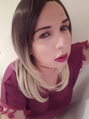 Lighter makeup than usual and daddy's new dress (Ana Keel) Tags: transisbeautiful tranny trap transgender transvestite transcend trans cd feminisation femboy sissies sissy tgirl tgurl tgirls tg tr