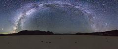 Milky Way at the Race Track (flomojo) Tags: milkyway stars nightsky panorama pano national park deathvalley california travel travelphotography sonya7mk2