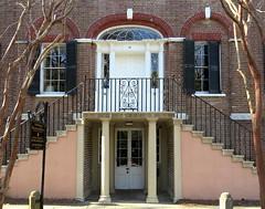 Upstairs, Dowhstairs: Entrance(s), the William Blacklock House (1800), 18 Bull Street, Charleston, SC