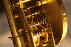 Old Clock Interior Macro (Retro Photo International) Tags: cogwheel gears macro macromondays clock carl zeiss jena 50mm 35 tessar