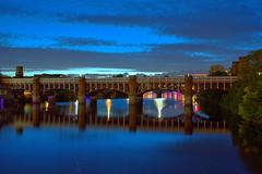 Clyde Bridge, Glasgow (rockyrutherford) Tags: glasgow clyde bridge hdr river night lights reflections d7100 nikon