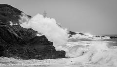 Storm Ali in Mumbles. (minar5) Tags: mumblesseascapeslandscapelighthouse nikon nature bw swansea seascape