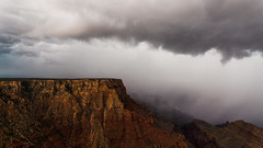 The Rain (Mike Olbinski Photography) Tags: 20180919 sigmaart1424mm sonya7r3 arizona canyons clouds grandcanyon monsoon rain stormchasing thunderstorm transitionevent