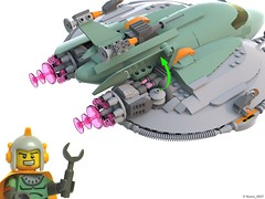 21 RETRO SPACE HERO'S SPACESHIP - Opened Plasma Engine (Nuno_0937) Tags: lego ideas classic space spaceship ship moc retro hero minifigure