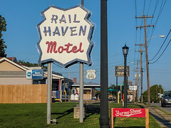 Rail Haven Motel - Springfield, Missouri - Birthplace of Route 66 (BeerAndLoathing) Tags: summer cellphone roadtrip missouri google springfield august googleandroid trip nexus6p android eclipsetrip 2017 route66