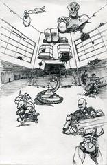 sc0236 (Josh Beck 77) Tags: drawing sketch scifi sciencefiction fantasy medieval medievalfantasy fantasycreature snake animal alien people figure robot building architecture sword