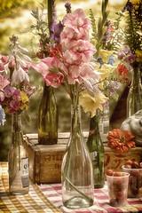 Flowers at the Market (DJ Wolfman) Tags: flowers market vintage color soft focus bokeh olympus olympusomd 12100mmf4zuiko zuiko zd micro43