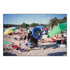 On The Beach (2) (Koprek) Tags: fuji superia 400 beach film analog croatia olympusxa streetphotography summer 2018 novalja adriatic