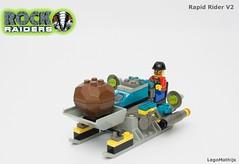 01_Rapid_Rider_V2 (LegoMathijs) Tags: lego legomathijs moc rock raiders rapid rider v2 set 4920 stone energy crystal miners miner mining tools water kipper saw bandit scifi underground rocks turqoise