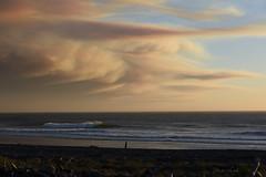 silent awe (Claudia Künkel) Tags: oregon wildfiresmoke pacificocean klondikefire taylorcreekfire goldbeach coast evening