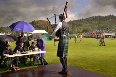 Oban Highland Games (PentlandPirate of the North) Tags: obanhighlandgames bagpipes piper judges rain argyll bute scotland kilt tossers caber macqueenbrothers sports scottish