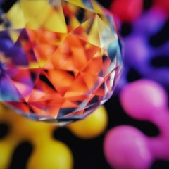 Glass ball and colors (tomquah (busy period)) Tags: macromondays glass bokeh crystal refractions tomquah