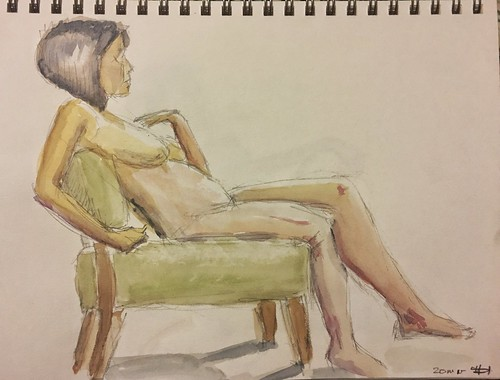 Wild Goose 9.5.18 #lifedrawing  #watercolor 20 minutes