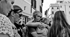 Don't mind us!! (Baz 120) Tags: candid candidstreet candidportrait city candidface candidphotography contrast street streetphoto streetphotography streetcandid streetportrait strangers sony a7 rome roma europe women monochrome monotone mono noiretblanc bw blackandwhite urban life primelens portrait people italy italia grittystreetphotography faces decisivemoment