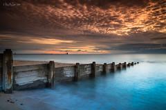 DSC02540 Dapple sky delight (Ray McIver Photography) Tags: blyth groynes sept18 beach goodsky hightide sunrise