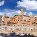 Panorama View of Trajan's Market and Trajan's Forum in Rome, Italy