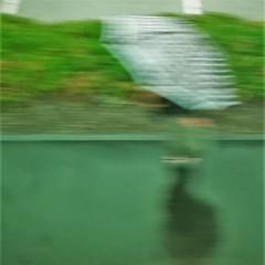 Another Day (michael.veltman) Tags: watercolor art train station platform wet green umbrella