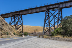 Rail Bridge Over the Altamont (dcnelson1898) Tags: alamedacounty california altamontpass northerncalifornia hills golden
