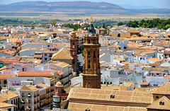 Antequera, uitzicht vanaf de kasteeltoren op het stadje, Spanje Andalusië 2018 (wally nelemans) Tags: antequera kasteel castle alcazaba torredelhomenaje kerktorensansebastian panorama spanje spain españa andalusië andalusia andalucia 2018