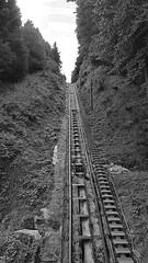 rails funiculaire (sebastien.demotier) Tags: funiculaire ancien montdore rails auvergne france ancient vieux noir blanc black white blacknwhite