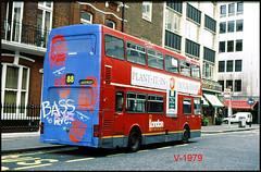 M1305 (B305 WUL) ((Stop) The Clocks) Tags: london londongeneral mcw mcwmetrobus m1305 b305wul graffiti londonbuses londonbusstop