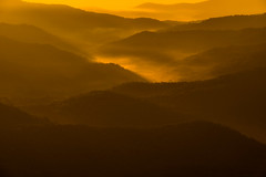 Morning sunshine fills the valley as fog begins to appear... (Matt Creighton) Tags: morning sunrise valley asheville carolina outside sunshine tamron 70200