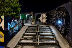 PN 142_013473 02 S_Y (Darkly B) Tags: darklyb night street notte strada nightonearth light shadow murales art graffiti arte