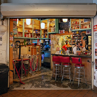 It is with heavy hearts that we are posting our photo of Shopsin's inside the Essex Street Market in the Lower East Side as we learned that the founder, Kenny Shopsin passed away.