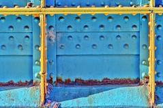yellow and blu (gianmaria.colognese) Tags: yellow giallo blu bulloni acciaio colors rust ruggine