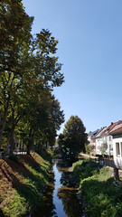 Dividing Line (grinnin1110) Tags: de hessen babenhausen gersprenz ohlebach germany summer outdoor afternoon europe deutschland hesse
