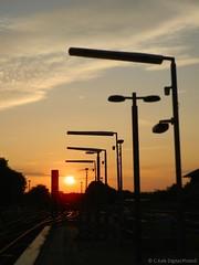 In the Distance (C.Kalk DigitaLPhotoS) Tags: sonnenuntergang sunset sun sonne himmel sky urban abendstimmung abends evening sundown moody inthedistance inderferne hamburg barmbek germany outdoor orange red rot photo photography