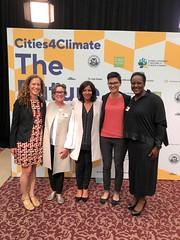 With Mayor Anne Hidalgo of Paris, France and Mayor Samantha Paradis of Belfast, Maine