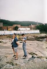 Family trip. (romy_clair) Tags: ocean sea water colour rocks beach nature tourits travel color family portarit analogue film amateur busan south korea asia 35mm