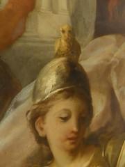 Athene's owl (JuliaC2006) Tags: greenwich royalnavalcollege paintedhall ceiling painting owl athene head helmet