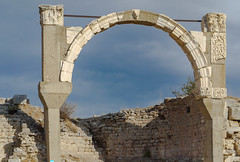 Balancing act (Adaptabilly) Tags: lumixg1 ephesus asia travel sky arch decoration architecture turkey efes greek ephesos clouds izmir tr