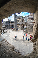 DSC_6254-2 (Ranjith_july) Tags: architecture archaeology paintings carvings india fisheye traveller wanderlust maharashtra aurangabad sky lowlight structure caves ellora ancient history buildings