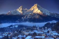 Berchtesgaden Dawn (hapulcu) Tags: alemania allemagne bavaria bavarie bayern berchtesgaden deutschland duitsland germany hiver invierno winter