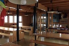 réfectoire cabane du Vélan (bulbocode909) Tags: valais suisse valdentremont vallondevalsorey cabaneduvélan réfectoires tables bancs cabanes rouge