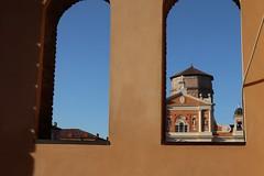 Duomo di Carpi in cornice (c.colombini) Tags: color architecture architettura particolare italy vivid colors cathedral duomo emilia carpi