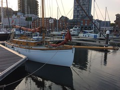 19-07 Nancy Blackett moored in Ipswich, 19th July 2018. Photo Clive Fisher. (The Nancy Blackett Trust) Tags: arthurransome nancyblackett swallowsandamazons sailing yacht hillyard norfolkbroads lowestoft southwold greatyarmouth reedham beccles breydon boats barges mincarlo excelsior lydiaeva orwell harwich ipswich