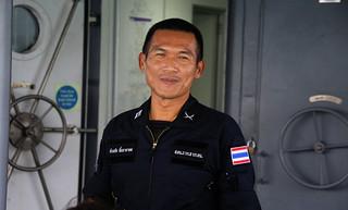 Reassuring smile of Marine Officer จักรชัย  ลิ้มธาราดล