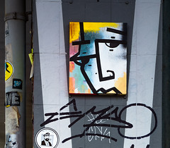 HH-Installations 2068 (cmdpirx) Tags: hamburg germany reclaim your city urban street art streetart artist kuenstler graffiti aerosol spray can paint piece painting drawing colour color farbe spraydose dose marker stift kreide chalk stencil schablone wall wand nikon d7100 installation install cement glue kleber klebstoff tile kachel styrodur styropor vinyl lp cd style guerilla knitting yawn bombing tape inst cutout yarn