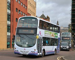 First Glasgow LK55 ACO (32657) | Route 75 | Clutha Junction, Glasgow (Strathclyder) Tags: first glasgow firstglasgow volvo b7tl wright eclipse gemini lk55 aco lk55aco 32657 stockwell street victoria bridge scotland olympialivery caledonia firstlondon firstcentrewest vnw32657