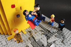 You Go After My Family? After My World? No Damn Way! (-Metarix-) Tags: lego super hero minifig dc comics comic infinite crisis alexander luthor superboy prime wondergirl nightwing antimonitor tower multiverse death world perfect earth