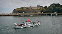 Nothe Fort.. (Harleynik Rides Again.) Tags: weymouth portland boat traditionalwoodenboat sea fort ferry dorset nothefort harleynikridesagain nikondf explore inexplore