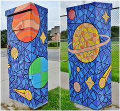 Outside the Box Art Project, Leslie Street and Ravel Road, Toronto, ON (Snuffy) Tags: outsidetheboxartproject lesliestreetandravelroad toronto ontario canada