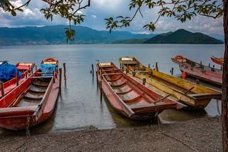 Lugu Lake Boats